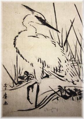 японская белая цапля